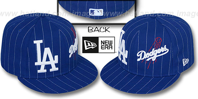 Dodgers 'BIG-ONE DOUBLE WHAMMY' Royal-White Fitted Hat : pictured without stickers that these products are shipped with