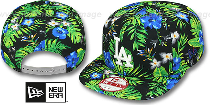 Dodgers 'BLOOM SNAPBACK' Hat by New Era : pictured without stickers that these products are shipped with