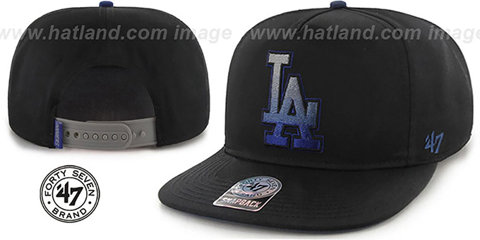 Dodgers 'BURNING-MAN SNAPBACK' Black Hat by Twins 47 Brand : pictured without stickers that these products are shipped with