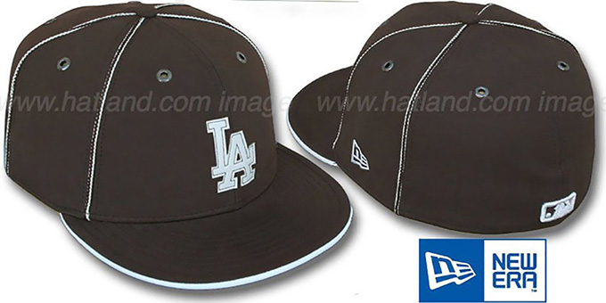 Dodgers 'CHOCOLATE DaBu' Fitted Hat by New Era : pictured without stickers that these products are shipped with