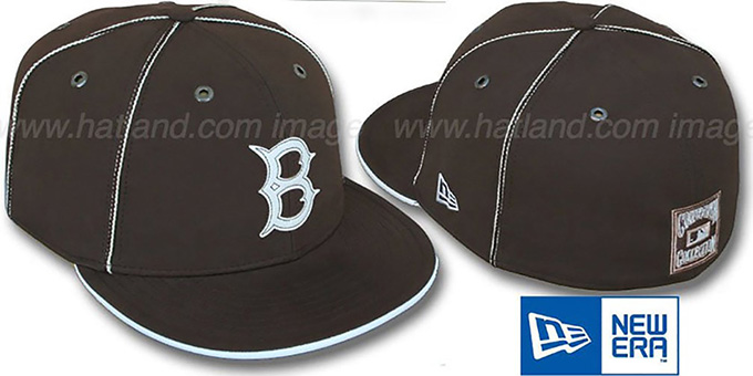 Dodgers COOP 'CHOCOLATE DaBu' Fitted Hat by New Era : pictured without stickers that these products are shipped with