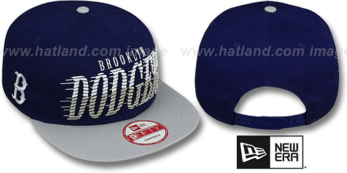 Dodgers COOP 'SAILTIP SNAPBACK' Royal-Grey Hat by New Era : pictured without stickers that these products are shipped with