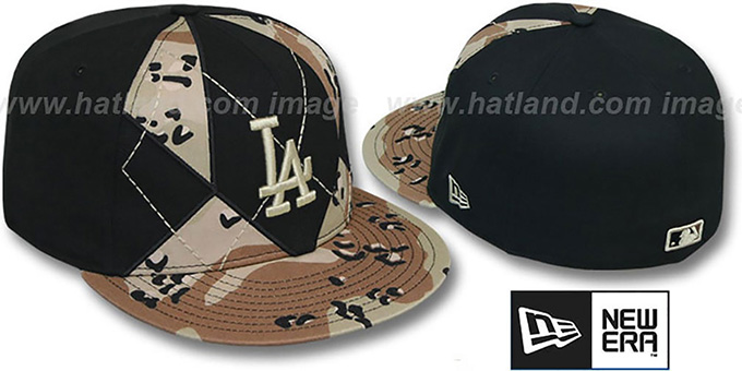 Dodgers 'DESERT STORM CAMO BRADY' Fitted Hat by New Era : pictured without stickers that these products are shipped with