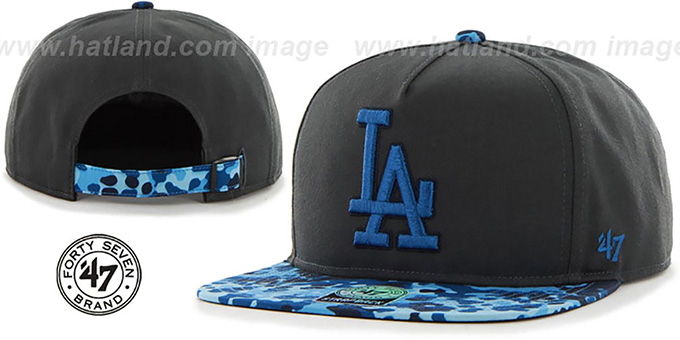 Dodgers 'DRYTOP STRAPBACK' Grey Hat by Twins 47 Brand : pictured without stickers that these products are shipped with