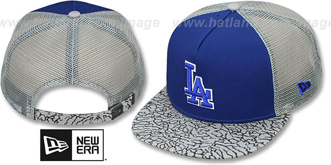 Dodgers 'ELEPHANT-HOOK STRAPBACK' Hat by New Era : pictured without stickers that these products are shipped with