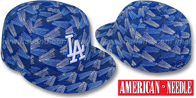 Dodgers 'FLICKER' Royal Fitted Hat by American Needle : pictured without stickers that these products are shipped with