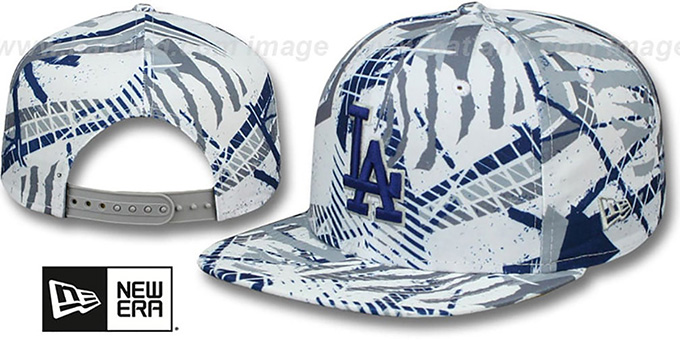 Dodgers 'GEOMET TRICK SNAPBACK' Hat by New Era : pictured without stickers that these products are shipped with