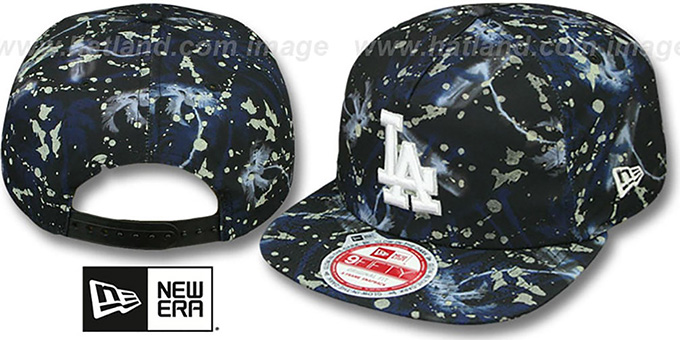Dodgers 'GLOWSPECK SNAPBACK' Hat by New Era : pictured without stickers that these products are shipped with
