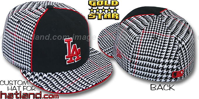 Dodgers 'HOUND DOG' Fitted Hat by New Era : pictured without stickers that these products are shipped with