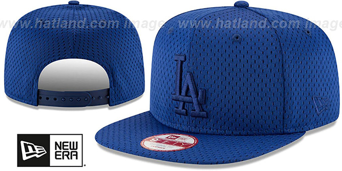 Dodgers 'JERSEY MESH TONAL SNAPBACK' Royal Hat by New Era : pictured without stickers that these products are shipped with