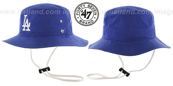 Dodgers 'KIRBY BUCKET' Royal Hat by Twins 47 Brand : pictured without stickers that these products are shipped with