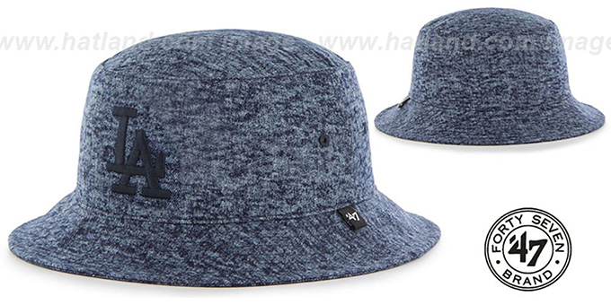 Dodgers 'LEDGEBROOK BUCKET' Navy Hat by Twins 47 Brand : pictured without stickers that these products are shipped with
