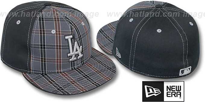 Dodgers 'MacFADYEN' Grey Fitted Hat by New Era : pictured without stickers that these products are shipped with