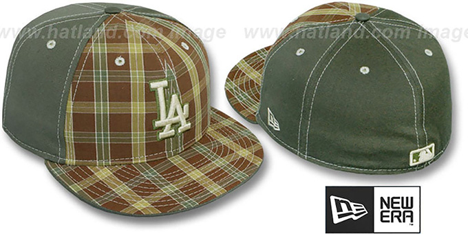 Dodgers 'MacFADYEN' Olive Fitted Hat by New Era : pictured without stickers that these products are shipped with