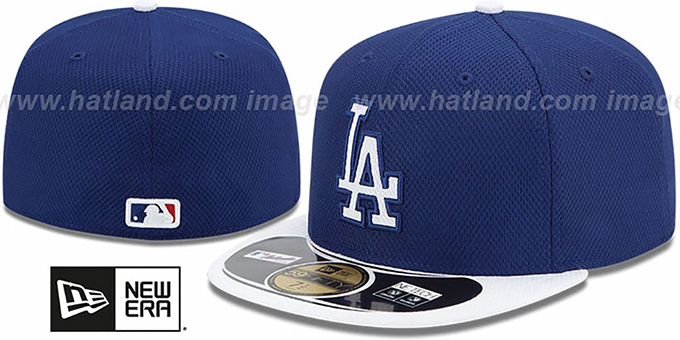 Dodgers 'MLB DIAMOND ERA' 59FIFTY Royal-White BP Hat by New Era : pictured without stickers that these products are shipped with