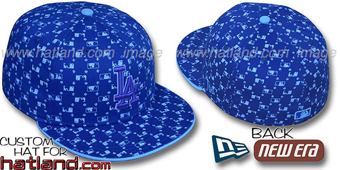 Dodgers 'MLB FLOCKING' Royal Fitted Hat by New Era : pictured without stickers that these products are shipped with