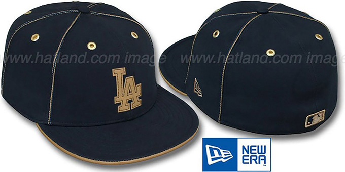 Dodgers 'NAVY DaBu' Fitted Hat by New Era : pictured without stickers that these products are shipped with