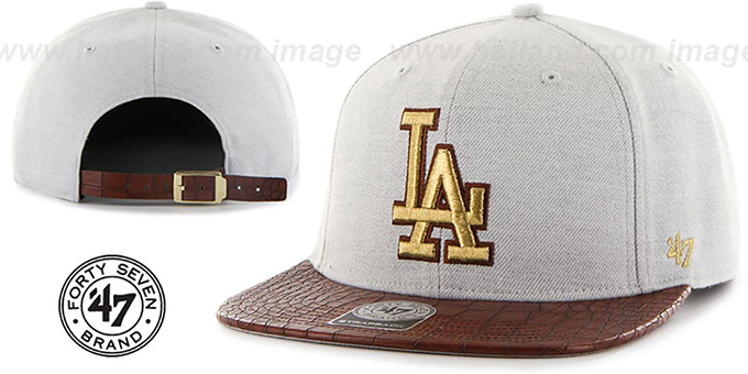Dodgers 'ORINOCO STRAPBACK' Hat by Twins 47 Brand : pictured without stickers that these products are shipped with