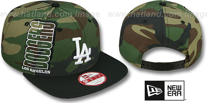 Dodgers 'RALLYMARK SNAPBACK' Army-Black Hat by New Era : pictured without stickers that these products are shipped with