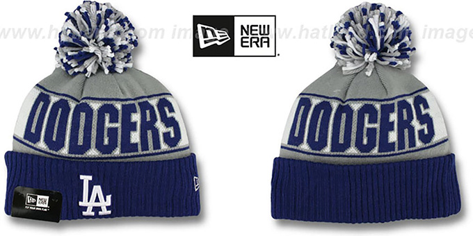 Dodgers 'REP-UR-TEAM' Knit Beanie Hat by New Era : pictured without stickers that these products are shipped with