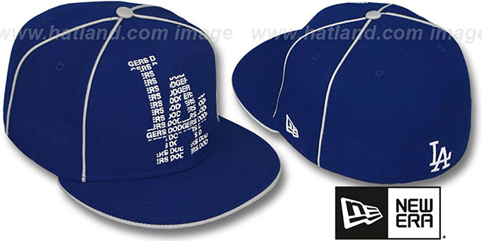 Dodgers 'REPEAT BIG-ONE' Royal Fitted Hat by New Era : pictured without stickers that these products are shipped with
