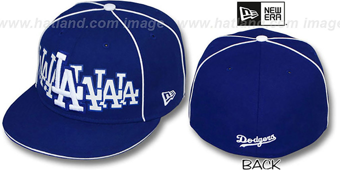 Dodgers 'SEVEN' Royal Fitted Hat by New Era : pictured without stickers that these products are shipped with