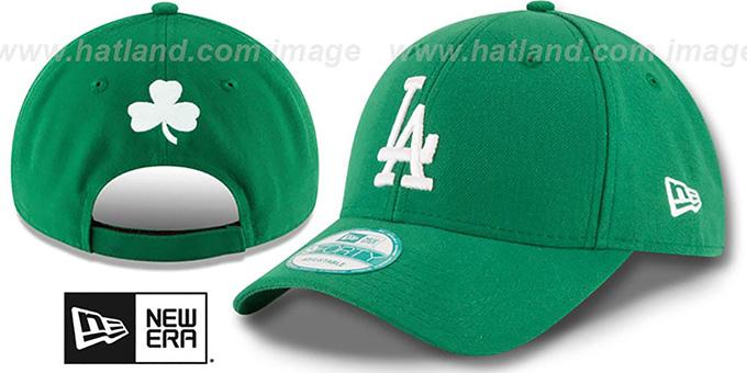 93b7fa0ca02df9 Dodgers 'ST PATRICKS DAY' Green Strapback Hat by New Era