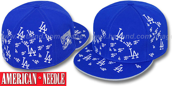 Dodgers 'STARSTRUCK' Royal Fitted Hat by American Needle : pictured without stickers that these products are shipped with