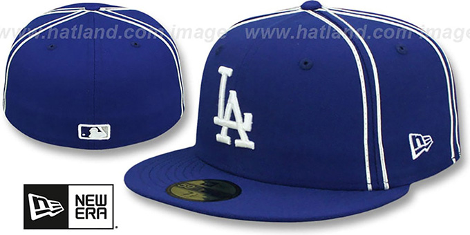 eb59931a4a2 Los Angeles Dodgers Y2K SOUTACHE Royal Fitted Hat by New Era