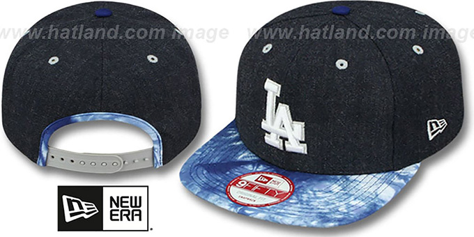 Dodgers 'ZONE-VIZE SNAPBACK' Navy Hat by New Era : pictured without stickers that these products are shipped with