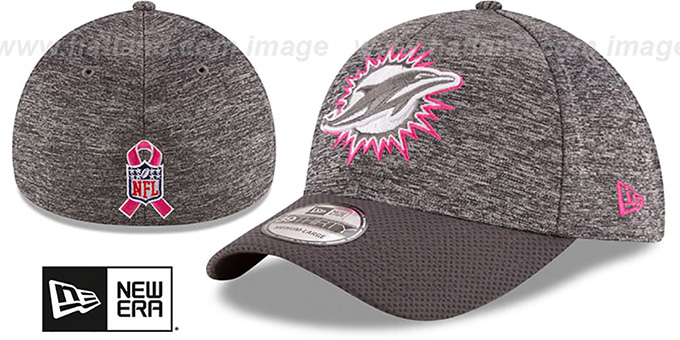 Dolphins '2016 BCA FLEX' Grey-Grey Hat by New Era : pictured without stickers that these products are shipped with