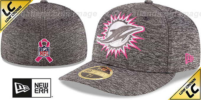 Dolphins '2016 LOW-CROWN BCA' Grey Fitted Hat by New Era : pictured without stickers that these products are shipped with