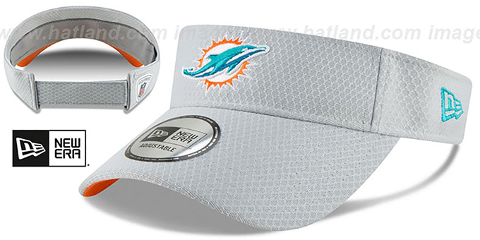 Dolphins '2018 NFL TRAINING VISOR' Grey by New Era