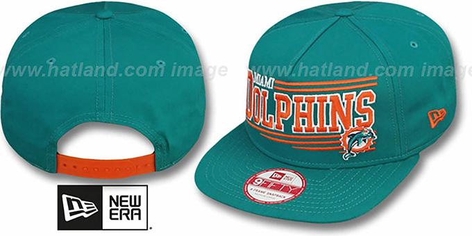 Miami Dolphins ANGULAR A-FRAME SNAPBACK Aqua Hat by New Era 72b4c9b45