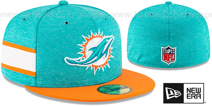 Dolphins 'HOME ONFIELD STADIUM' Aqua-Orange Fitted Hat by New Era