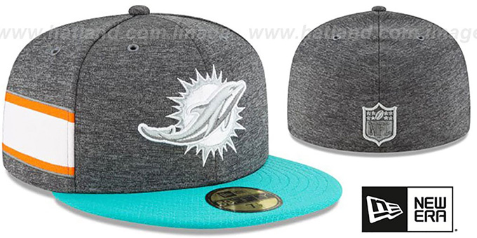 Dolphins 'HOME ONFIELD STADIUM' Charcoal-Aqua Fitted Hat by New Era