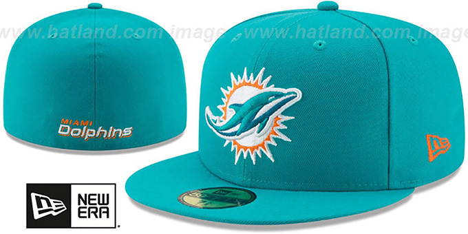 Dolphins 'NFL TEAM-BASIC' Aqua Fitted Hat by New Era