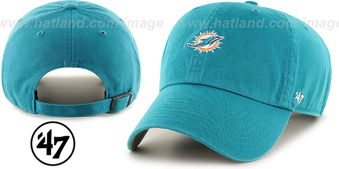 Dolphins 'POLO STRAPBACK' Aqua Hat by Twins 47 Brand : pictured without stickers that these products are shipped with