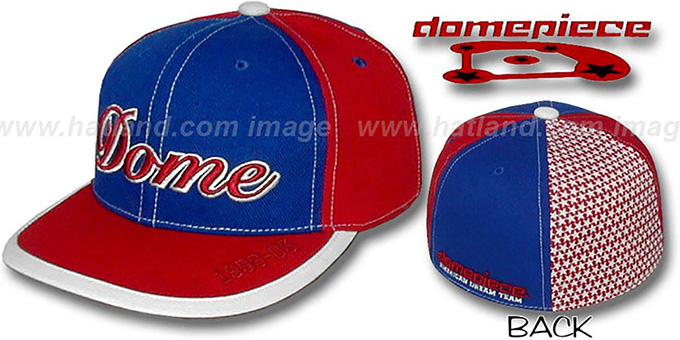 Domepiece 1999-03 'DOME PINWHEEL' Royal-Red Hat : pictured without stickers that these products are shipped with