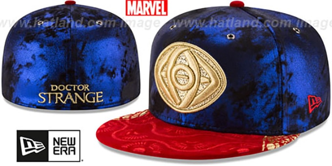 Doctor Strange 'VELVET CLOAK' Fitted Hat by New Era : pictured without stickers that these products are shipped with