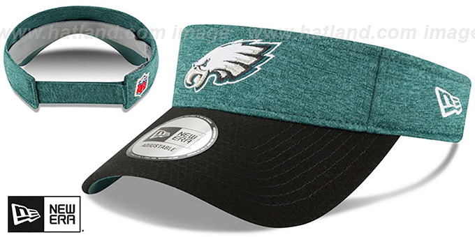 98a14edba62 Philadelphia Eagles 18 NFL STADIUM Green-Black Visor