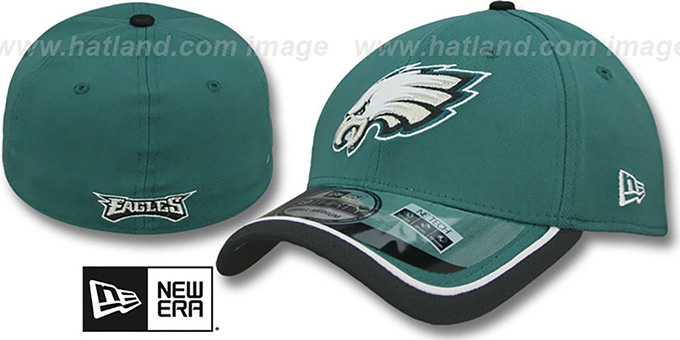 Eagles '2014 NFL STADIUM FLEX' Green Hat by New Era : pictured without stickers that these products are shipped with
