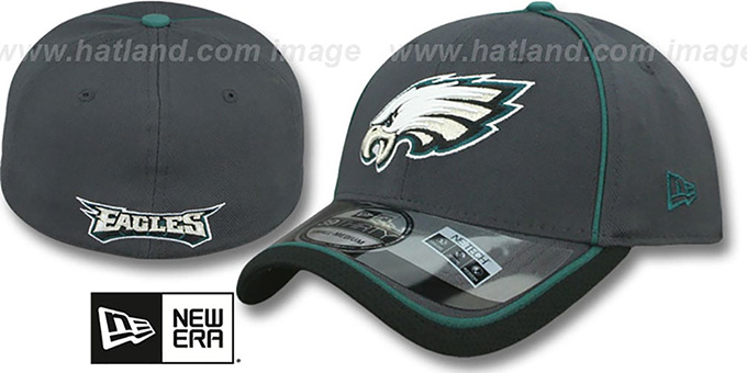 Eagles '2014 NFL STADIUM FLEX' Grey Hat by New Era : pictured without stickers that these products are shipped with