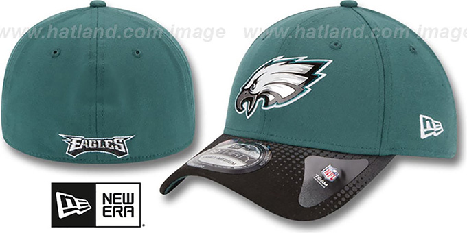Eagles '2015 NFL DRAFT FLEX'  Hat by New Era : pictured without stickers that these products are shipped with