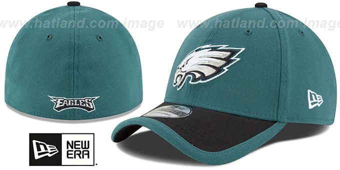 Eagles '2015 NFL STADIUM FLEX' Green-Black Hat by New Era : pictured without stickers that these products are shipped with