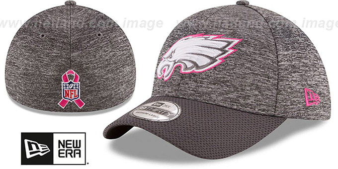 Eagles '2016 BCA FLEX' Grey-Grey Hat by New Era : pictured without stickers that these products are shipped with