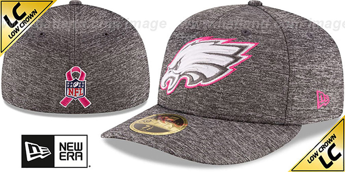 Eagles '2016 LOW-CROWN BCA' Grey Fitted Hat by New Era : pictured without stickers that these products are shipped with