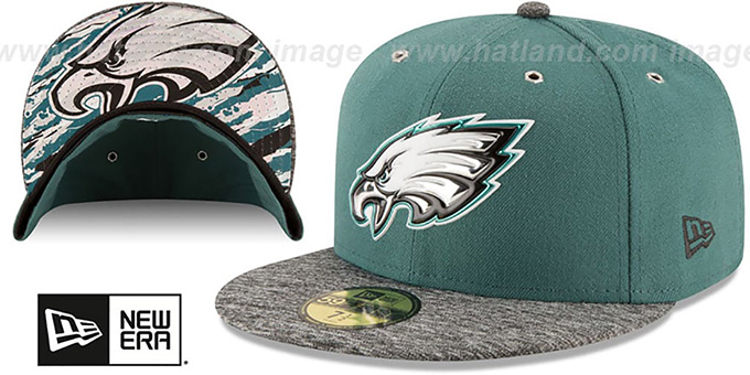 Eagles '2016 NFL DRAFT' Fitted Hat by New Era : pictured without stickers that these products are shipped with