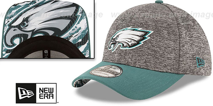 Eagles '2016 NFL DRAFT FLEX' Hat by New Era : pictured without stickers that these products are shipped with