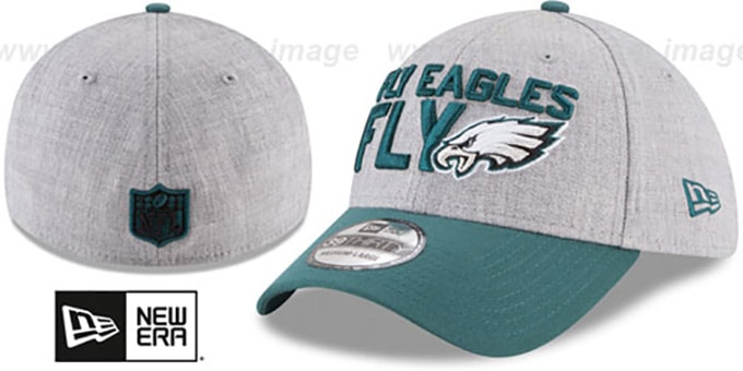 647d2c64941ed4 Eagles '2018 ONSTAGE FLEX' Grey-Green Hat by New Era